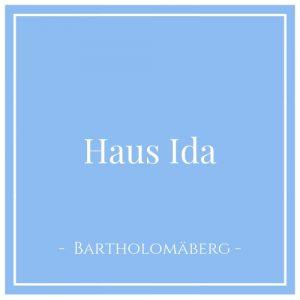 Haus Ida, Bartholomäberg, Montafon, Österreich