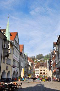 Feldkirch - Markgasse von Johanniterkirche aus gesehen