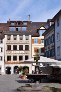 Feldkirch - Marktpassage mit Springbrunnen