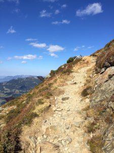 Wanderweg am Hochjoch im Montafon