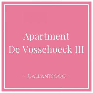 Apartment De Vossehoeck III, Callantsoog, Holland
