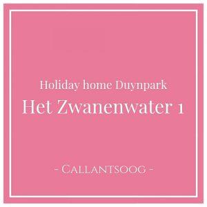 Holiday home Duynpark Het Zwanenwater 1, Callantsoog, Holland