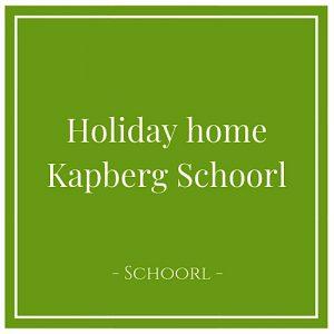 Holiday home Kapberg Schoorl, Schoorl, Holland
