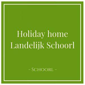 Holiday home Landelijk, Schoorl, Holland