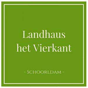 Landhaus het Vierkant, Schoorldam, Holland