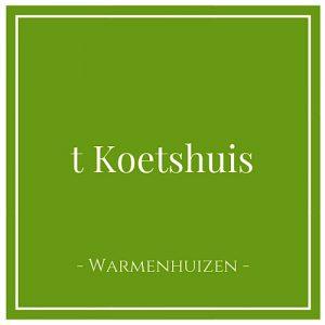 t Koetshuis, Warmenhuizen, Holland