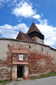 Äussere Ringmauer der Kirchenburg von Frauendorf, Axente Sever, in Siebenbürgen, Rumänien