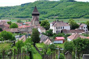 Blick auf Frauendorf, Siebenbürgen, Rumänien