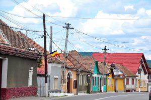 Buntes Dorf in Siebenbürgen, Rumänien