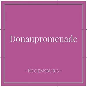Donaupromenade, Regensburg, Deutschland