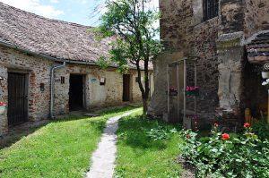 Kornkammern in der Kirchenburg von Frauendorf, Axente Sever, in Siebenbürgen, Rumänien