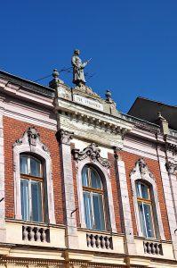 Schöne Gebäudefassade in Mediasch,Siebenbürgen, Rumänien