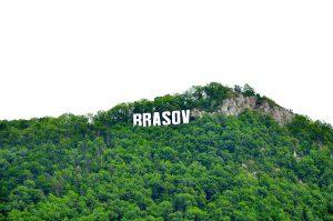 Kronstadt, Rumänien mit Brasov Schriftzug