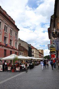 Kronstadt-Brasov Einkaufsstraße