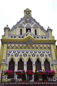 Kronstadt-Brasov schönes Gebäude in der Altstadt