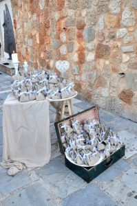 Hochzeits-Give-Aways bei einer Hochzeit in Griechenland