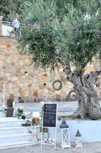 Hochzeitsdekoration in Griechenland