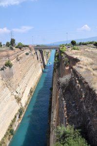 Kanal von Korinth, Peloponnes, Griechenland