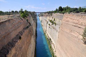 Kanal von Korinth, Peloponnes - Griechenland