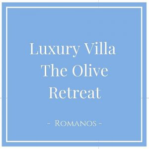 Luxury Villa The Olive Retreat, Romanos, Peloponnes, Griechenland auf Charming Family Escapes