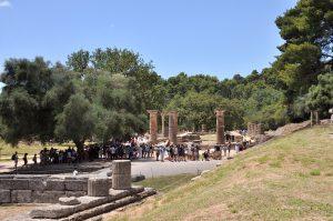 Ruinen in der Ausgrabungsstätte Olympia