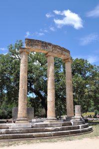 Tempel für die Entzündung des Olympisches Feuer, Olympia