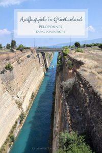 Ausflugsziele in Griechenland - Peloponnes, Kanal von Korinth auf Charming Family Escapes