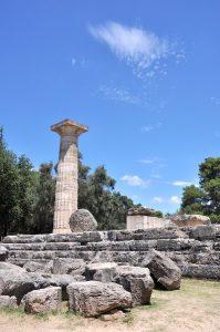 Tempel-Ruinen in Olympia