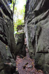 Das Labyrinth auf dem Müllerthal Trail in Luxemburg