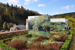Der Schlossgarten von Clervaux