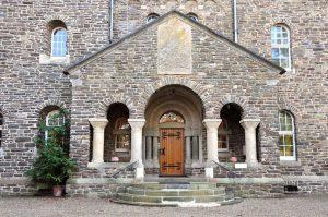 Eingang zur Benediktinerabtei von Clervaux