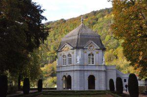 Pavillon im ehemaligen Lustgarten der Abtei in Echternach, Luxemburg