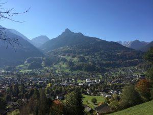 Wandern im Montafon - Blick vom Aussichtspunkt Landschrofen