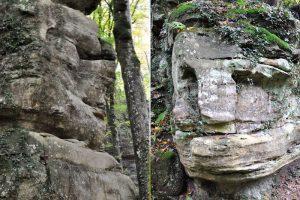 Steingesichter auf dem Müllerthal Trail, Luxemburg