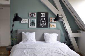 Eye Hotel Utrecht - Zimmer 207 Schlafbereich