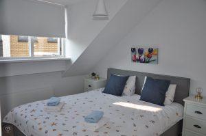 Het Melkjhuisje, Noordwijk, grosses Schlafzimmer
