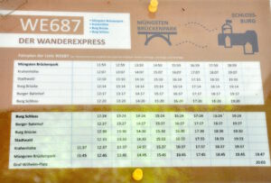 Fahrplan Wanderexpress WE687