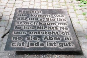 Rätsel 8 im Müngstener Brückenpark