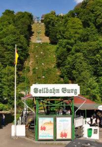 Seilbahn Schloss Burg