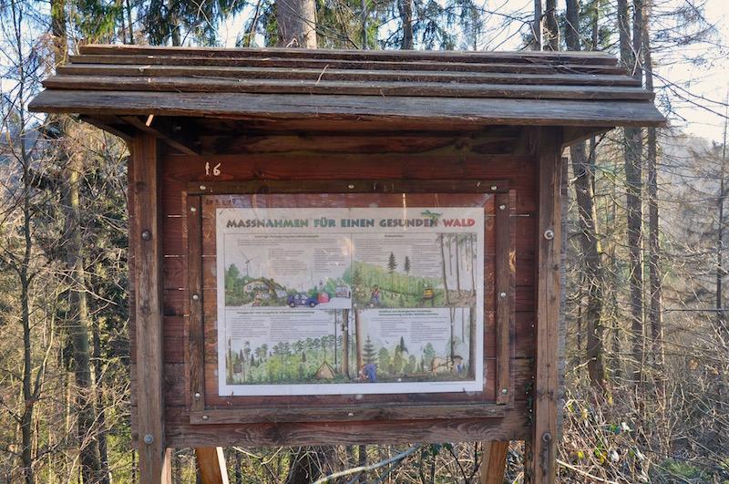 Lehrtafel, Waldschule Solingen