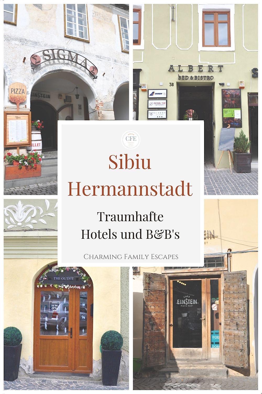 Hotel in Hermannstadt, Sibiu, Siebenbürgen, Rumänien