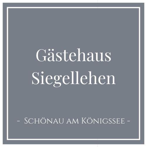 Gästehaus Siegellehen, Schönau am Königssee