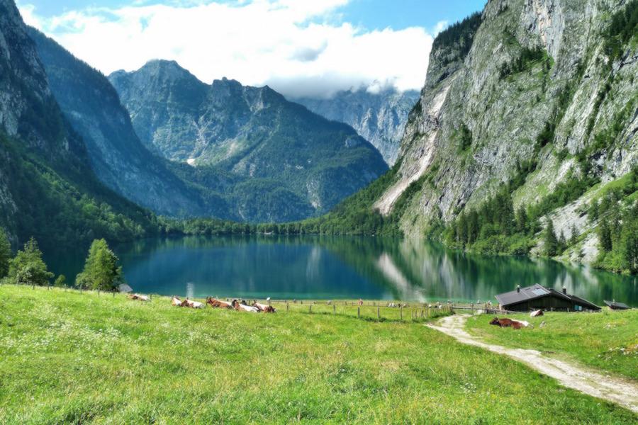 Blick auf den Obersee, Berchtesgaden
